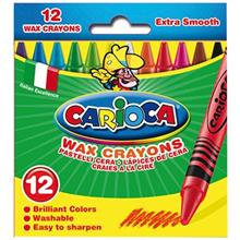 Carioca 12 Color Wax Crayon