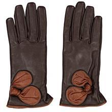 دستکش زنانه چرم مشهد مدل Brown R0162