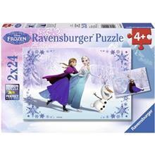 پازل 2 × 24 تکه راونزبرگر مدل  Frozen Sisters Always