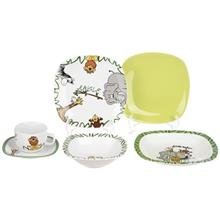 Zarin Iran Porcelain Quattro Jungle 6 Pieces Porcelain Children Dinnerware Set Top Grade