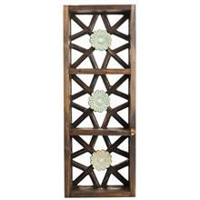 قفسه چوبی گالری اسعدی طرح سه گل