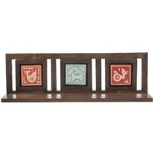 طبقه چوبی گالری اسعدی طرح چوب و سفال خشتی