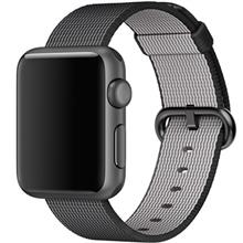 Apple Watch 38mm Aluminum Case With Black Woven Nylon