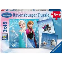 Ravensburger Frozen Winter Adventures 3 x 49 Puzzle