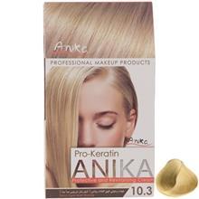 کيت رنگ مو آنيکا سري Pro Keratin مدل Matt شماره 10.3