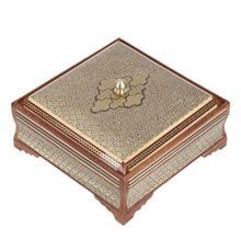 جعبه خاتم اثر کروبي مدل مربعي طرح 1 سايز بزرگ