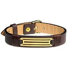 دستبند طلا 18 عیار سیم و گوهر مدل GLP118