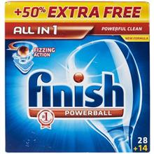 Finish All In 1 Dishwasher Tablets Pack Of 42