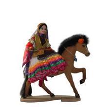 عروسک های محلی هنر اصفهان عروسک اسب سوار