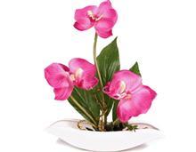 گل مصنوعی ارکیده با گلدان مدل 14062