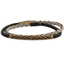 دستبند طلا کیا گالری مدل لوله ای اسلیمی مات