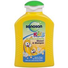 شامپو سر و بدن بچه سانوسان مدل Kids Bananaحجم 200 میلی لیتر