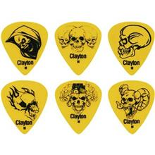 Clayton Domonic Skulls Medium Guitar Picks 12 Pack