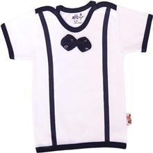 تي شرت آستين کوتاه نوزادي نيلي مدل Anchor