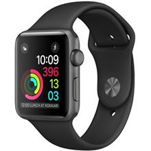 Apple Watch 2 42mm Space Gray Aluminum Case with Black Sport Band