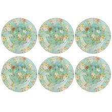 بشقاب میوه خوری شیشه ای گل دار گالری سیلیس مدل 180004 مجموعه شش عددی