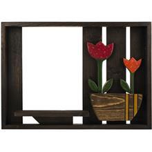 تابلو باکس گالري ويلو وود طرح گلدان 012