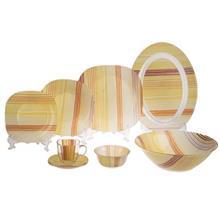 سرويس غذاخوري 38 پارچه لومينارک مدل Orange Stripes