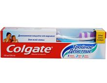 COLGATE 1-2-3 action with tooth brush , 100ml