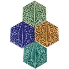 کاشي شش ضلعي نقش سرو مجموعه چهار عددي کد 169019