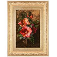 تابلو فرش گلابریشم گالری مثالین طرح شاخه گل 25009