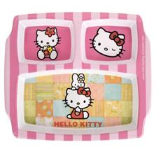 Blue Baby Hello Kitty Baby 3-Section Plate
