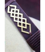 دستبند چرم زنانه کد1113 گالری سان سیلور