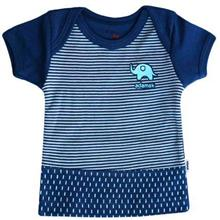 تی شرت پسرانه آستین کوتاه آدمک طرح فیل کوچولو