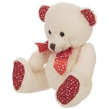 عروسک يوجيا مدل Bear With Bows ارتفاع 18.5 سانتي متر