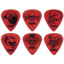 Clayton Domonic Skulls Thin Guitar Picks 12 Pack