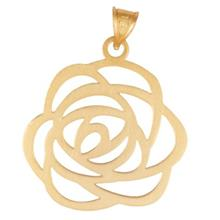 Rosa N007 Gold Necklace Pendant Plaque