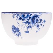 کاسه سرامیکی گالری میرانام طرح گل آبی سایز بزرگ