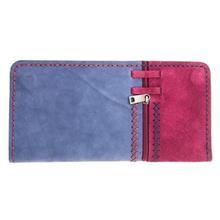 کیف پول چرم طبیعی گالری روژه مدل دو رنگ