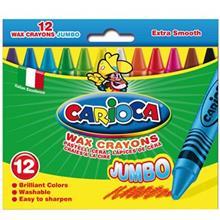 Carioca Jumbo 12 Color Wax Crayon