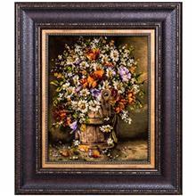 تابلو فرش گالری سی پرشیا طرح گل نرگس در سطل کد 911021