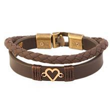 دستبند طلا 18 عيار کابوک مدل 175015 طرح قلب
