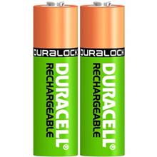 Duracell Duralock Ni-MH 2400mAh Rechargeable AA Battery Pack Of 2