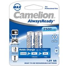 Camelion AlwaysReady 2500mAh Rechargeable AA Battery Pack of 2
