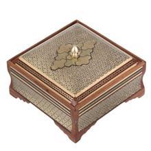 جعبه خاتم اثر کروبي مدل مربعي طرح 1 سايز متوسط