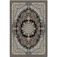 فرش ماشینی کهکشان طرح گیسو زمینه سورمه ای