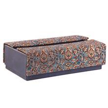 جعبه دستمالکاغذی ترمه سنا کد 115021 طرح یاس