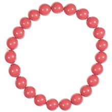 دستبند مهرهاي اليور وبر مدل Pearlbracelet Combi Dark Coral Red 21010 DRED