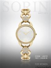 ساعت مچی زنانه سورین L0272 (طلایی-صفحه:سیلور)