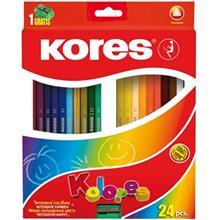 مداد رنگي 24 رنگ کورس مدل Kolores