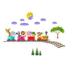 استیکر سه بعدی ژیوار مدل Animal Train