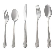 Nab Steel Berlin Matt Cutlery Set 46 Pieces