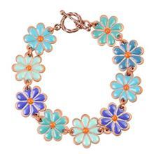 دستبند مسی مینا گالری آراسته کد 181020 طرح گل ناز