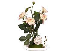 گل مصنوعی رز لمسی با گلدان مدل 14069
