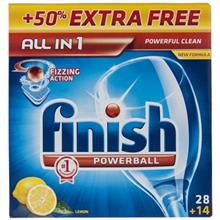 Finish All In 1 Lemon Dishwasher Tablets Pack Of 42