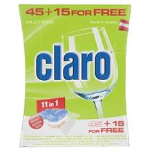Claro 11in1 Dishwasher Tablets Pack Of 60